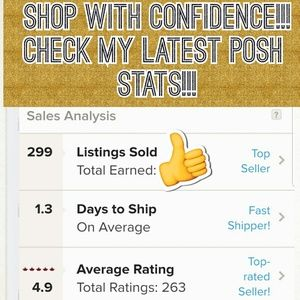 Shop with confidence in my closet!